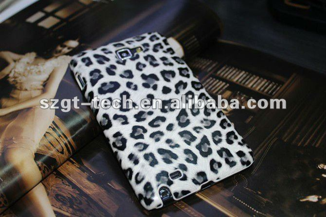 Leopard pattern PU leather Case for Samsung Galaxy Note S2 i9220,galaxy note i9220 back cover