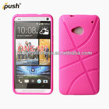 New Football Lines Tpu Soft Back Cell Phone Case Cover For HTC One M7