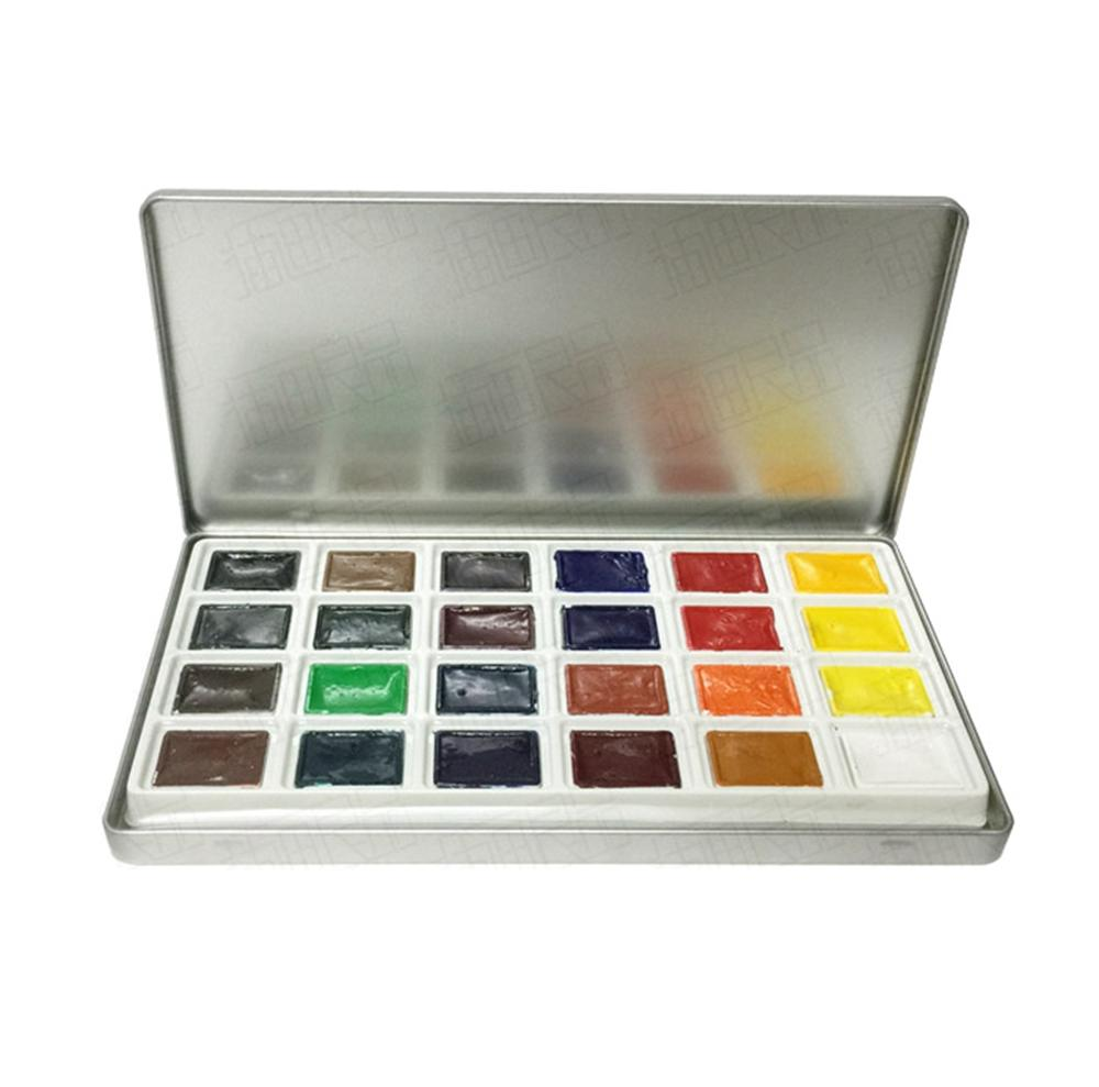 Non-toxic 18 Colors Dry Watercolor Paints ,empty watercolour paint boxes