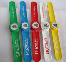 Quartz Slap On Silicon Rubber Sports Fashion Watch For World Game Event Volunteers