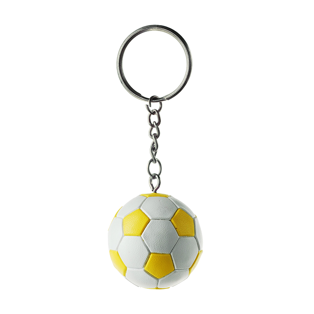wholesale 3d pvc soccer ball keychain promotion custome round football keyring souvenir gifts