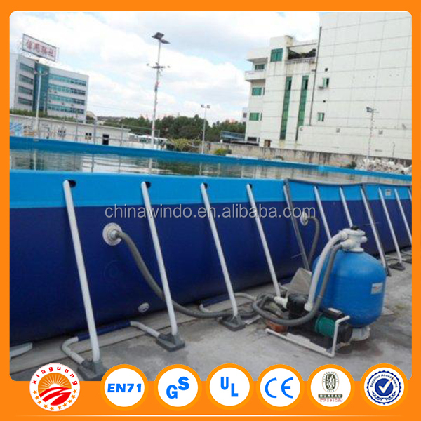 Above Ground Swimming Pool rectangular metal frame swimming pool