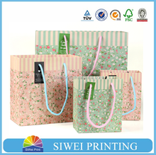 2015 wholesale boutique logo printed recyclable reusable custom made cheap promotional gift paper bag