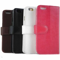 New Fashion Flip Leather Mobile Phone Wallet Cover Case for iPhone 5 5S Stand Design