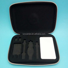 leather custom carrying essential oil EVA storage case with density foam interior