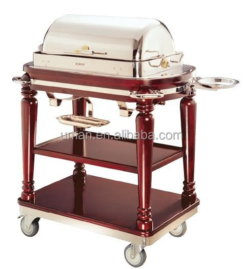 Luxurious rectangle roast beef trolley