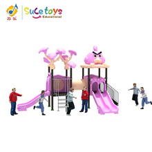 Safe And Funny Daycare Amusement Park Cheap Attractive Outdoor Playground Plastic Toy Equipment For Children