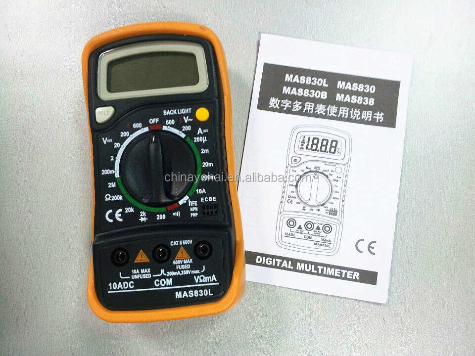 MAS830L Digital Voltage Electrician Multimeter with factory price