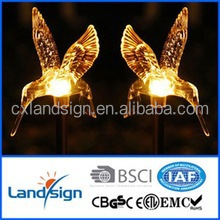 solar decoration light wholesale outdoor garden light 0.06W solar hummingbird stick light