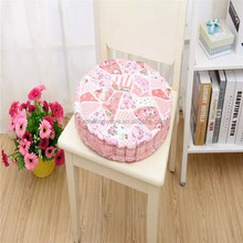 Custom round printed chair back cushion large floor cushion