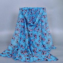 TOP Fashion Scarf Animal Cute Dog Patterns 100% Viscose Scarves 180*90 LONG Pashmina Shawls