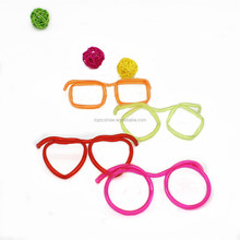 Crazy party glasses drinking straws