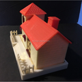 OEM MAKER custom vinyl toy/customized PVC large red house shape money piggy bank for kids gifts