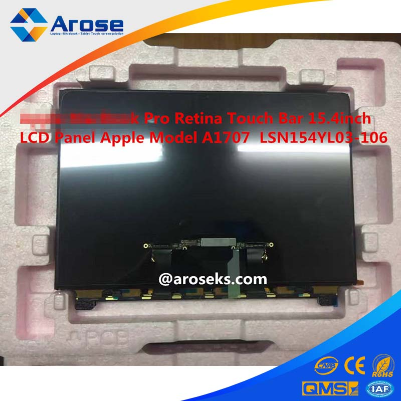 For Apple MacBook Pro Retina Touch Bar 15.4inch LCD Panel For Apple Model A1707 LSN154YL03-106