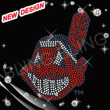 Indians warriors cool rhinestone iron ons for t-shirts