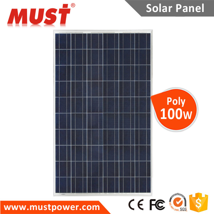 100W High Efficiency Poly Solar Panel With Full Certificate