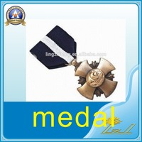 Metal craft plated award medallion and medal China manufacture