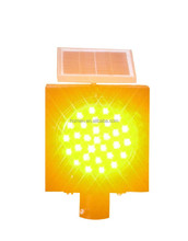 Solar Amber LED traffic warning light