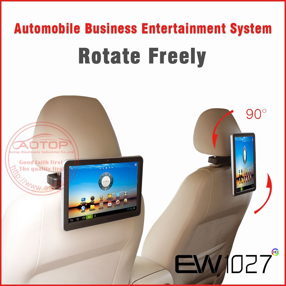 "1080P digital tv screens for cars 10"" Car Headrest TV/PC With WIFI, 3G, Capacitive Panel,Game Player,MP5"