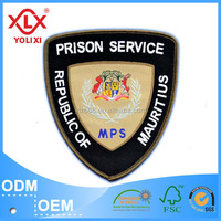 Cheap Security Uniform Badges knitted woven patches