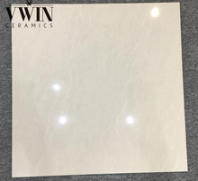 Two Layers White Shiny Polished Porcelain Tiles Floor Tiles