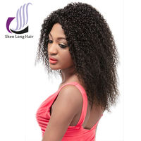 Top Quality Virgin Brazilian Front Lace Wigs Kinky Curly Remy Human Hair for Black Women baby hair