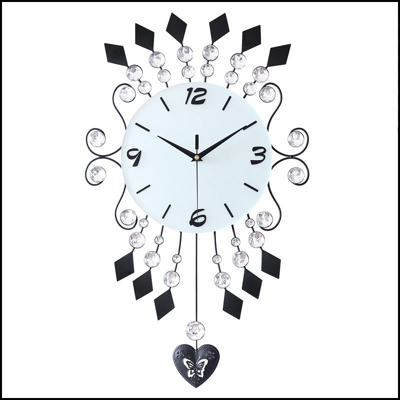 2015 New Home Goods Gifts Iron Wire Art Acrylic Beads Unique Large Metal DIY Custom Wall Clock Price