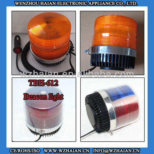 Waterproof Strobe Beacon Light/Police Warning Light/Emergency Vehicle led lights with Red/Blue/Amber Cover