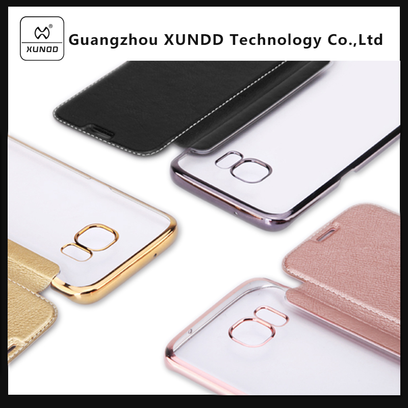[XUNDD]ODM Shockproof PU Leather Cell Phone Case Flip Wallet Cover for Samsung Galaxy S7 / S7 edge g935