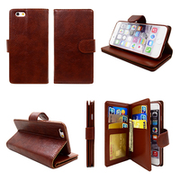 Hotselling Litchi PU Stand Leather Case Best for Iphone 5s Wallet Case Men