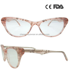 China Wholesale Fancy Acetate Eyewear Glasses ,Optical Frames For WomenWho Dy Top Italian Designer