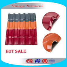 PVC Synthetic Resin Roofing Shingle And PVC plastic resin roof tile