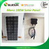 BlueSun chinese reliable solar panel factory 100watt mono panels solar 100 wp 24v solar panel 100w