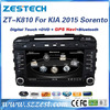 Zestech car audio system with reverse camera for kia sorento 2015 autoradio best quality