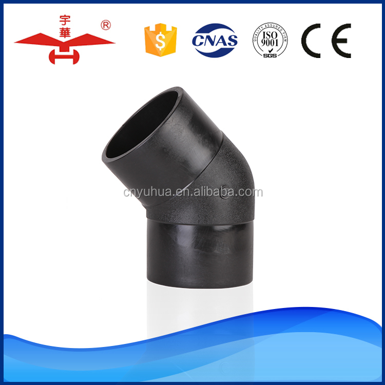 Manufacturer High Quality OEM Butt Fusion 45 Degree pe elbow