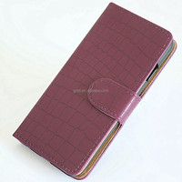 For iphone 6 plus luxury crocodile leather folio wallet phone case packing