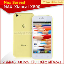 xiaocai x800 8.0Mp camera dual sim multi colors 8.4mm ultra slim android smart phone