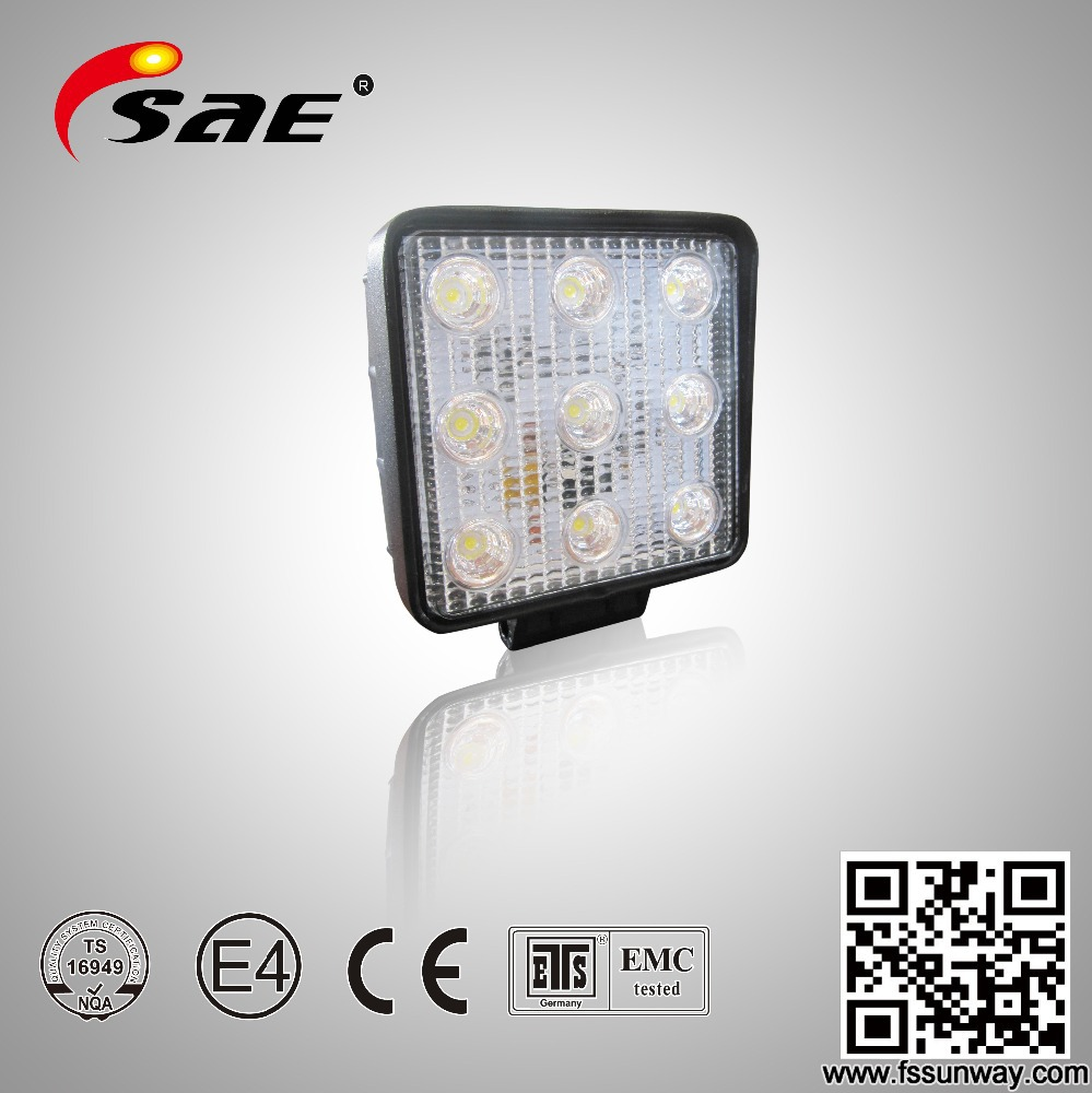 Hot sale <strong>auto</strong> off road 27w led work light for tucks suv jeep all vehicle use