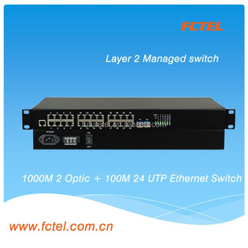 24ports*100Base-FX+2*1000Base 24v output poe switch