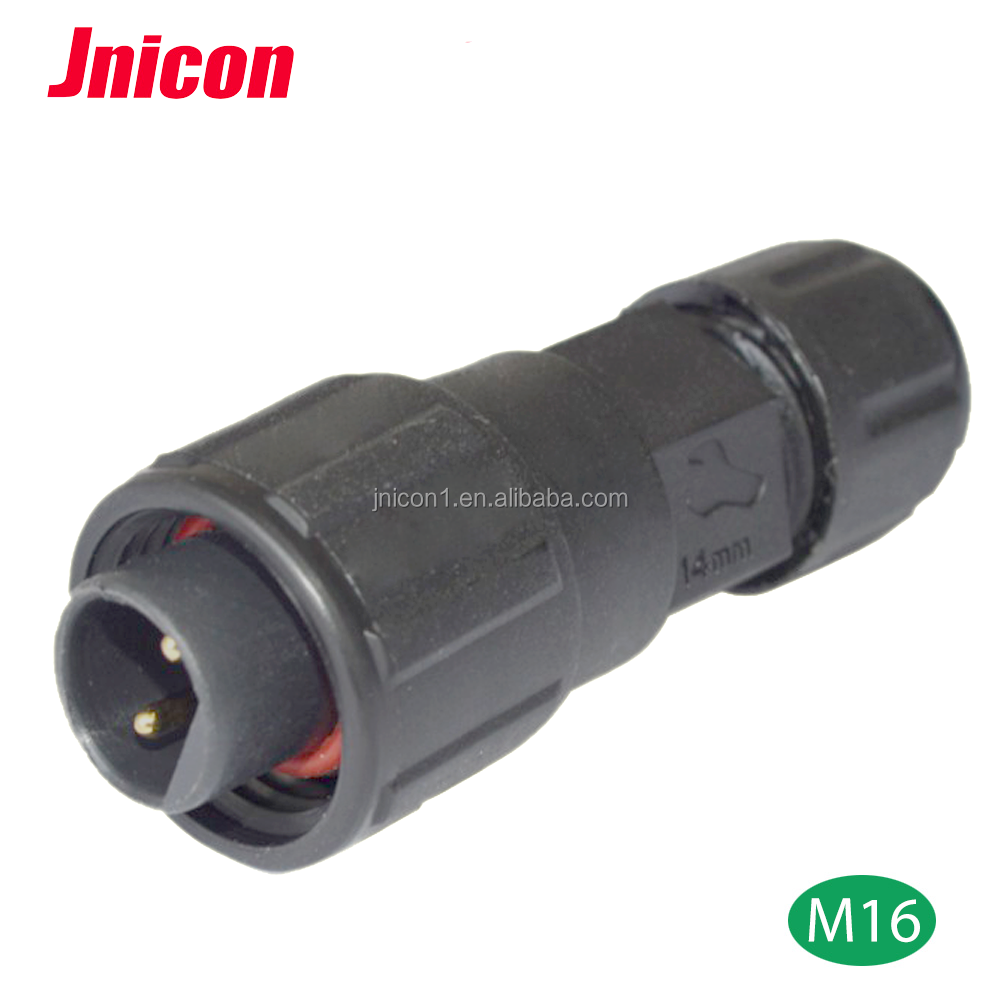 M16 2 pin male female 240v ac power ip67 waterproof connector with circular cable