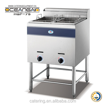 HGF-75 2-tank 2-basket gas frying machine hot sale