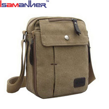 Small size canvas travel shoulder bag men sling vintage canvas bag for wallet