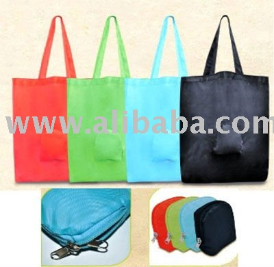 Foldable Bag with zipped