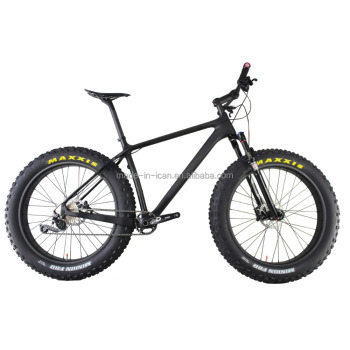 "ICANbike 26er Carbon Fat Bike With Rockshox Bluto Fork 16/18/20"" 4.8inch Tires carbon complete fatbike wheels UD matte finish"