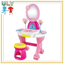 Girls toys plastic makeup mirror chair childs play set dresser table toy