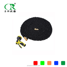 Flexible 50 Foot expanding can be walled water hose pipe list garden hose black rubber pipe