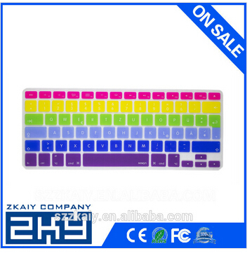 Colorful silicone laptop keyboard surface protective cover for macbook keyboard super skin