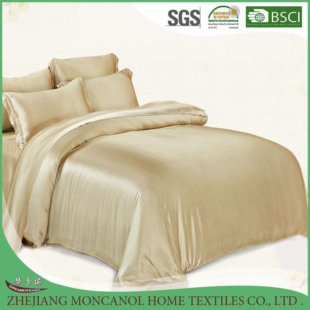 100% mulberry silk flat sheet,duvet cover luxury bedding set