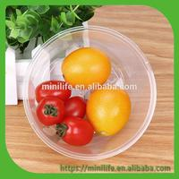 Round Disposable Plastic Takeaway Food Container With Lid