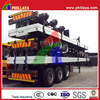 2 , 3 Axles 40- 60Tons Truck Hauler Container Transportation Used Flatbed Trailer